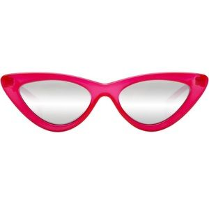 Le Specs THE LAST LOLITA OPAQUE RED SILVER MIRROR